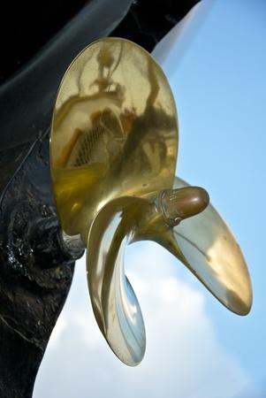 screw propeller in a dry dock