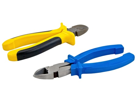 pliers: hand tools isolated on white background