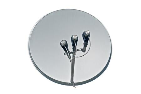 Antena parabólica aisladas sobre fondo blanco Foto de archivo - 10787438