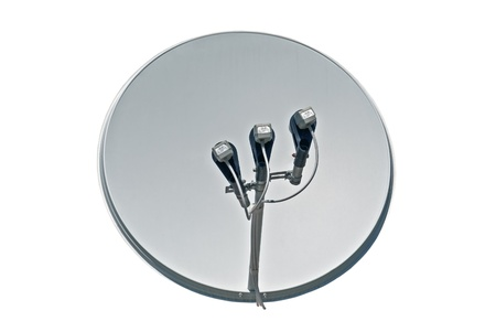 satellite dish antenna isolated on white background  photo