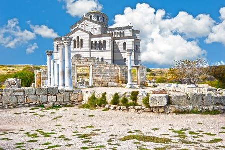 aesculapius: Ruinas de la antigua colonia griega Foto de archivo