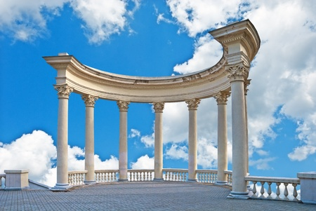 roman column: Observational ground in city Sevastopol
