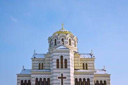 Vladimir Cathedral in the Chersonesos Taurica, Sevastopol, Crimea, Ukraine photo