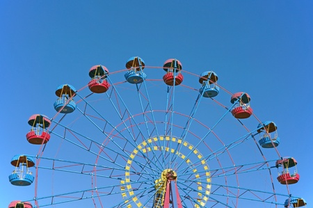 A colourful ferris wheel. Front view Stock Photo - 12206603