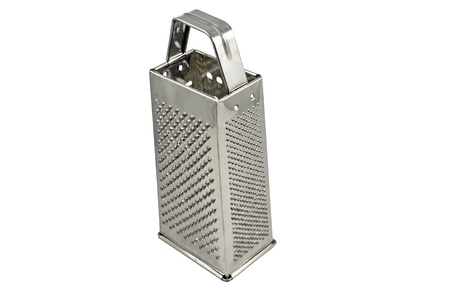 Metal grater. Isolated on white background photo