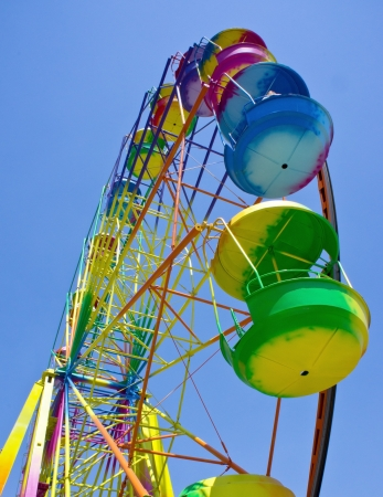 Ferris wheel in the summer morning Stock Photo