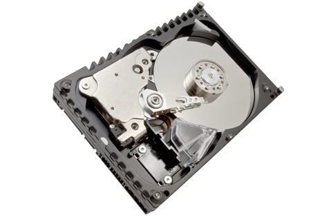 Hard disk drive HDD isolated on white background photo