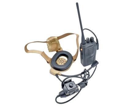 portable radio sets on a white background photo