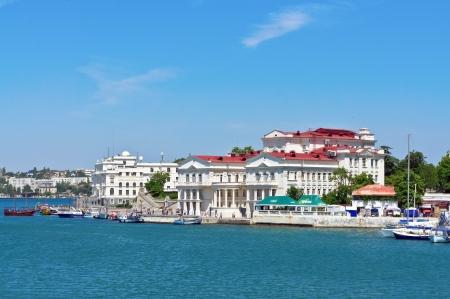 embankment of Sevastopol cityl, Crimea, Ukraine Stock Photo