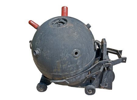 second world war: naval mine from the second world war Stock Photo