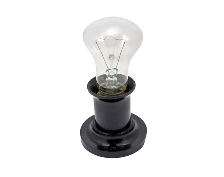 socle: electric light bulb with an old cap