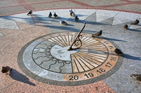 ancient pass: Sevastopol  The sundial on granite base