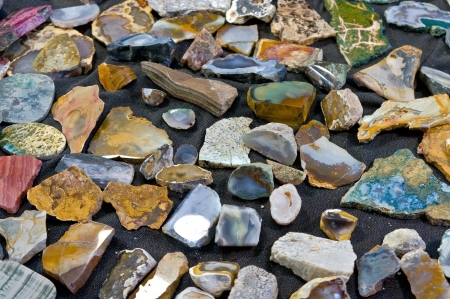 very beautiful varicoloured stones photo