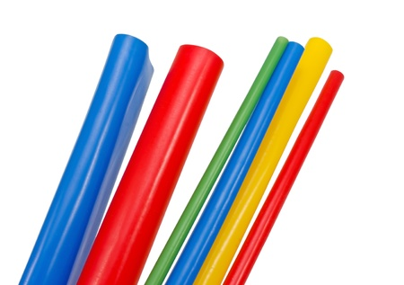 Heat Shrink Tubing to protect cables isolation Stock Photo