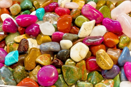 colourful images: very beautiful varicoloured stones Stock Photo