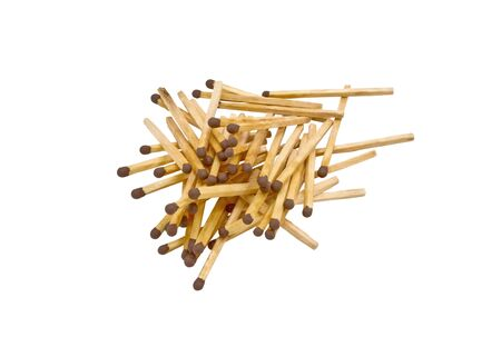 Group of matchstick on white Stock Photo - 18198787