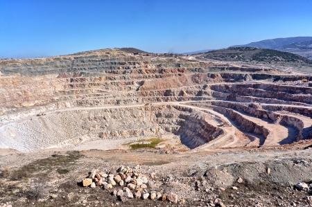 dragline: Open pit mine in Balaklava near Sevastopol city