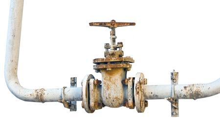 Tubo de metal con válvula Foto de archivo - 18336195