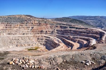 open pit: Open pit mine in Balaklava near Sevastopol city