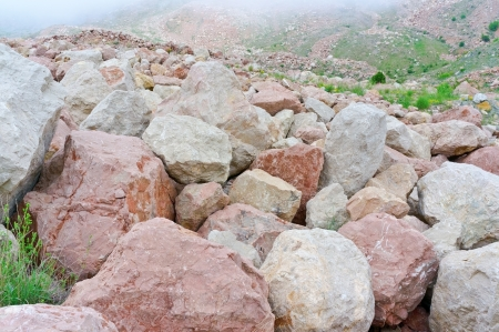 large boulders in the mountains of Crimea near a city Balaklava photo