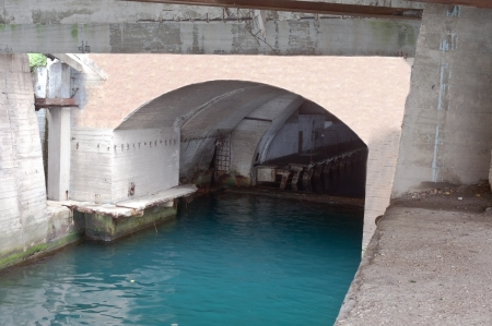 top secret submarine base of the soviet union ukraine, crimea,  photo