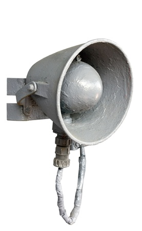 the old Megaphone on white background photo