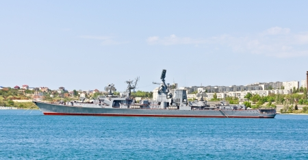Russian warship in the Bay, Sevastopol, Crimea, Ukraine photo