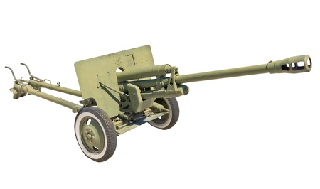 vehement: the Old Soviet cannon  on white background