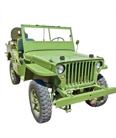 Guerra mundial 2 era EE.UU. jeep del ejército con la ametralladora Foto de archivo - 20241162
