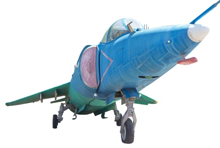 jet fighter: jet fighter in white background