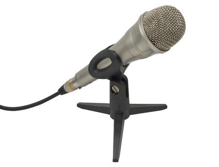 Dynamic microphone on a white background Фото со стока