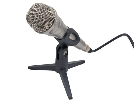 Dynamic microphone on a white background photo