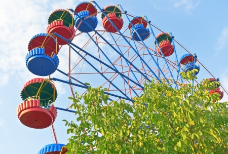 Ferris wheel in the summer morning Banque d'images