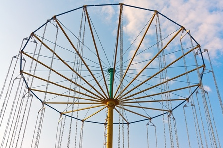 carousel on a background blue sky photo