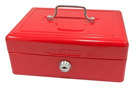 red metallic box on a white background Stock Photo - 22121053