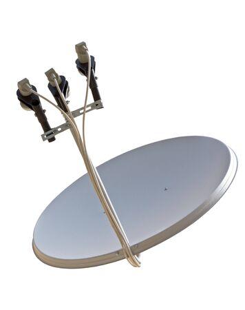 satellite dish antenna isolated on white background  Stock Photo - 23090940