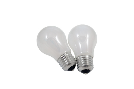 Light bulb isolated on a white background photo