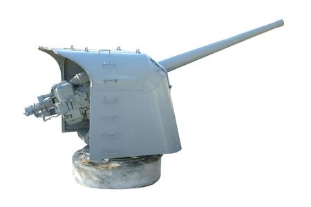 flack: Naval Gun  World War II  Isolated on white