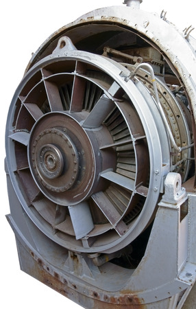 Close up image of the front of a Jet Fighter engine