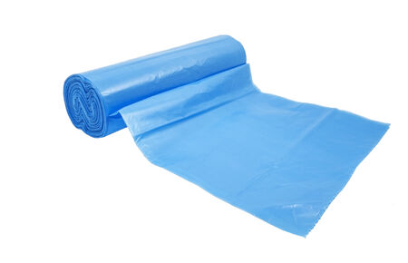 convolute: convolute in a roll packages for garbage on white
