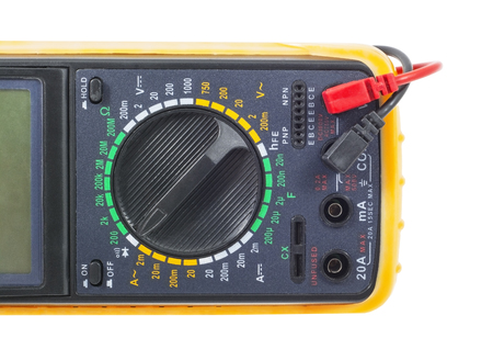 Multimeter, isolated on a white background Stock Photo