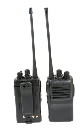 cb phone: UHF handsets on a white background Stock Photo