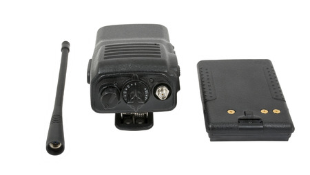 cb phone: UHF handsets on a white background Stock Photo