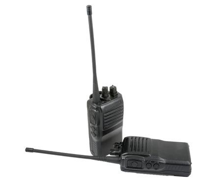 白い背景の上の UHF の携帯電話 写真素材