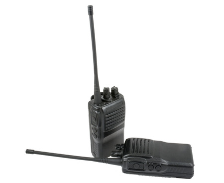 UHF handsets on a white background Banque d'images