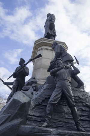 Monument to war of 1854 in Sevastopol, a monument to general Totleben photo