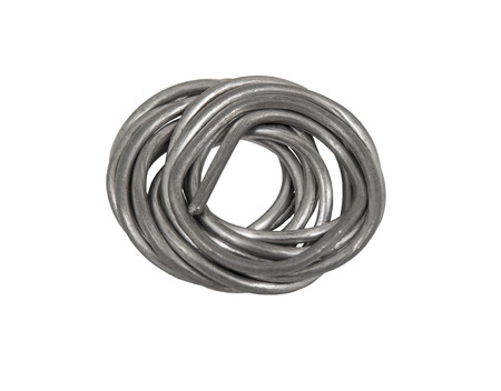rosin: Tin wire for soldering isolated on white