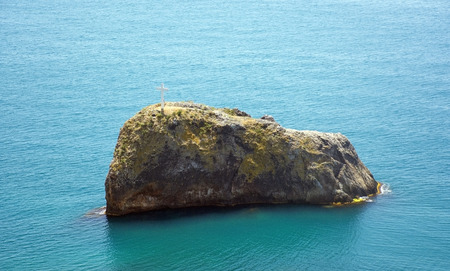 a rock in sea. Fiolent. Crimea. Sevastopol photo