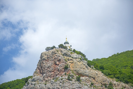 The Church of the Resurrection of Christ (Church On The Rock), Foros, Crimea Stock Photo
