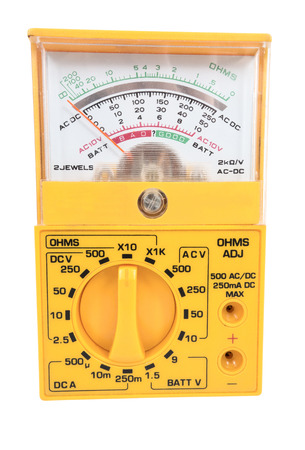 Multimeter, tester isolated on the white background